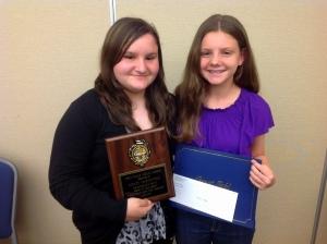 Award winners Sidney and Alina